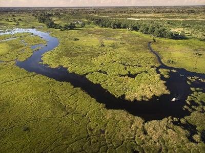 Duba Plains Camp Aerial